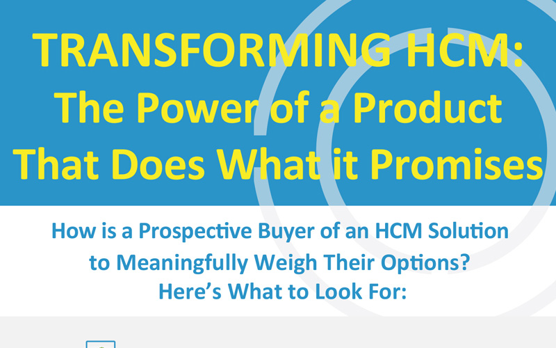 How is a Prospective Buyer of an HCM Solution to Meaningfully Weigh Their Options? - Infographic