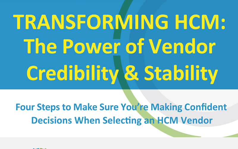 Four Steps to Make Sure You're Making Confident Decisions When Selecting an HCM Vendor - Infographic